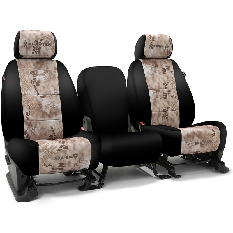 Jeep Renegade Seat Covers >> 2015 2015 Jeep Renegade Skanda Custom Seat Covers 1 Row Neosupreme Kryptek Nomad With Black Sides
